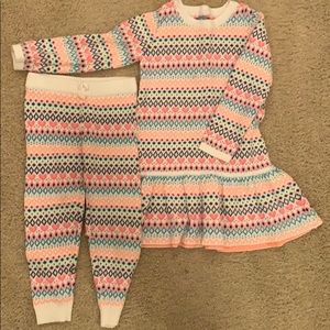 Warm dress and pants set